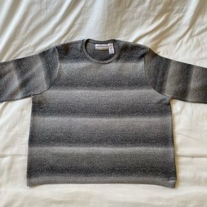 Alfred Dunner pullover gray & silver sweater 2X